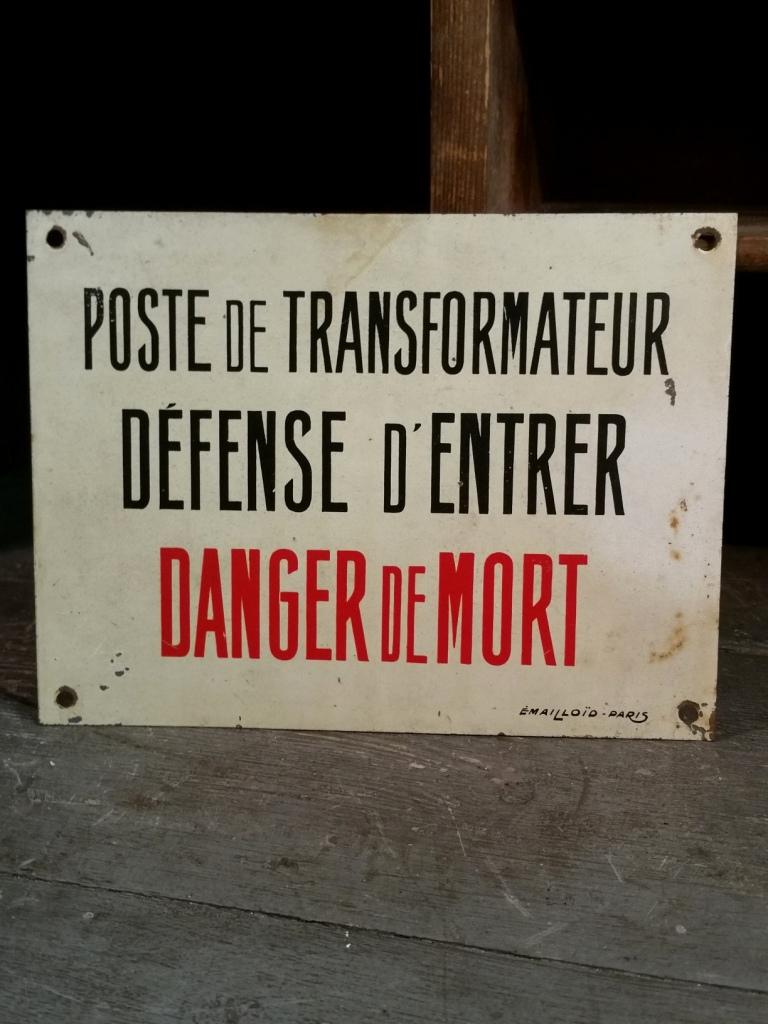 1 panneau danger de mort