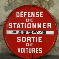 1 panneau defense de stationner