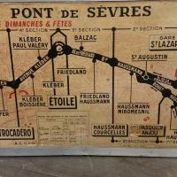 1 plan de ligne de bus de paris