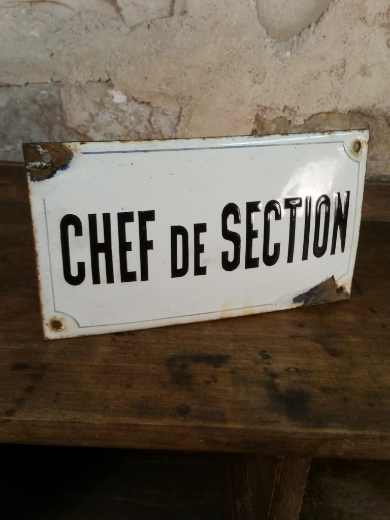 1 plaque chef de section