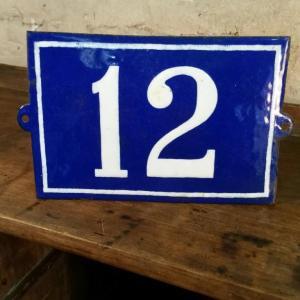 1 plaque de n de rue n 12
