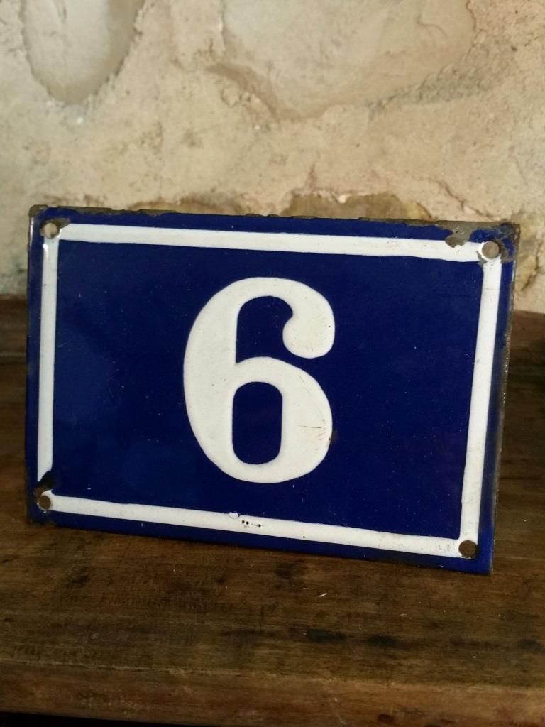 1 plaque de n de rue n 6