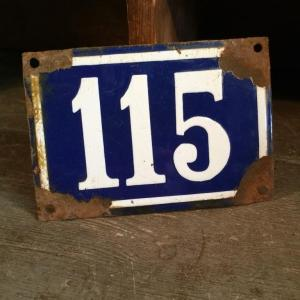 1 plaque de rue 115