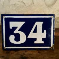 1 plaque de rue 34