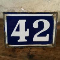 1 plaque de rue 42