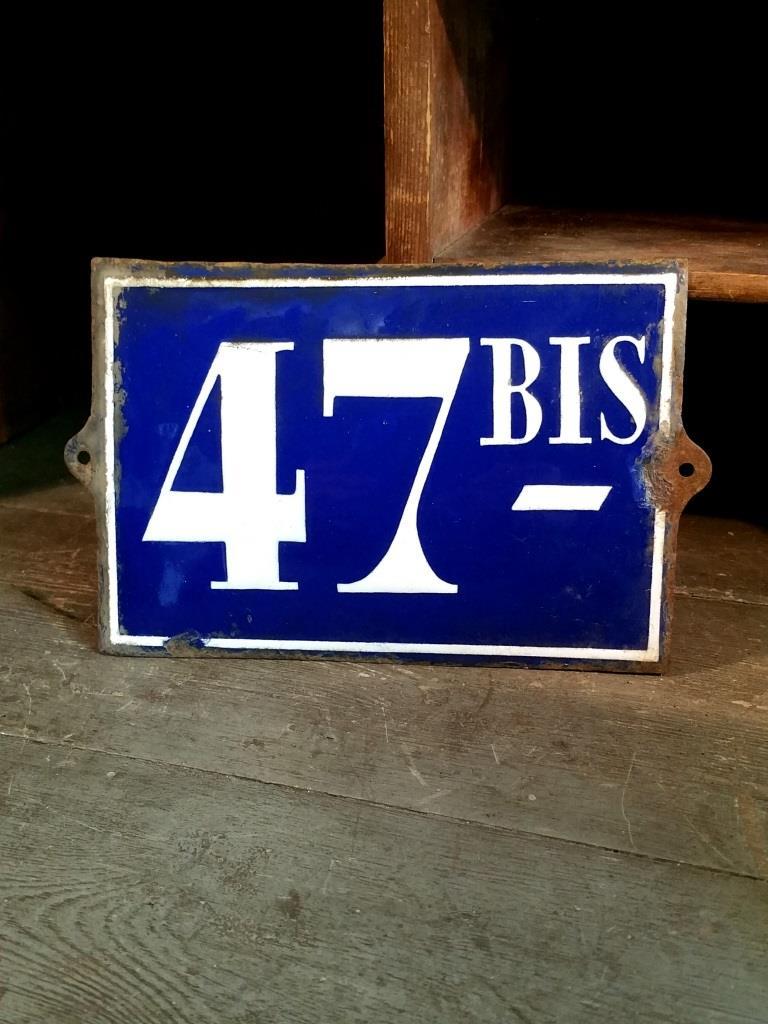 1 plaque de rue 47bis