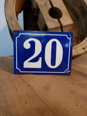 Plaque de n° rue 20