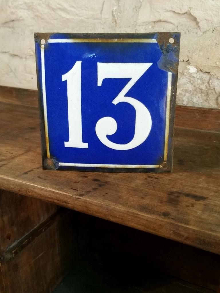 1 plaque de rue n 13