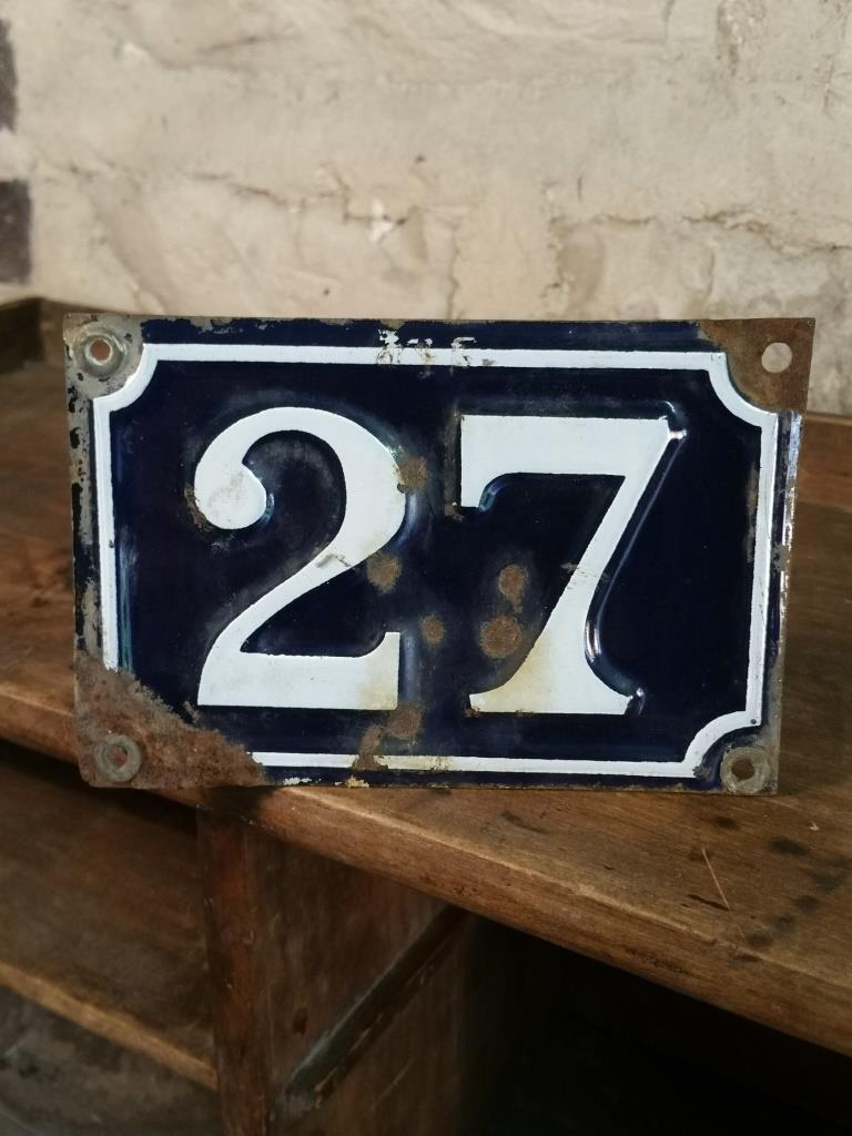 1 plaque de rue n 27