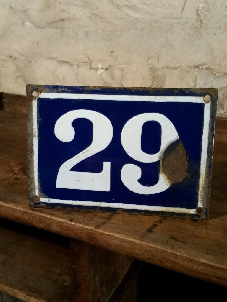 1 plaque de rue n 29