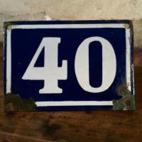 1 plaque de rue n 40