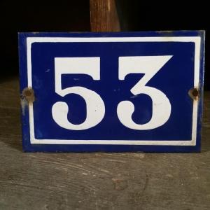 1 plaque de rue n 53