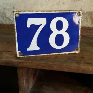 1 plaque de rue n 78