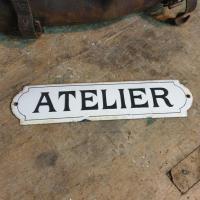 1 plaque emaillee atelier