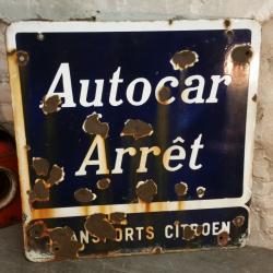 Plaque Autocar Citroën