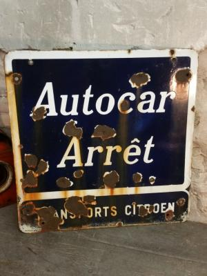 Plaque Autocar Citroën