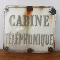 Plaque Cabine Téléphonique