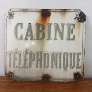 1 plaque emaillee cabine telephonique 1