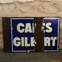 Plaque Cafés GILBERT