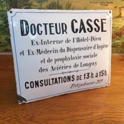 Plaque de Docteur