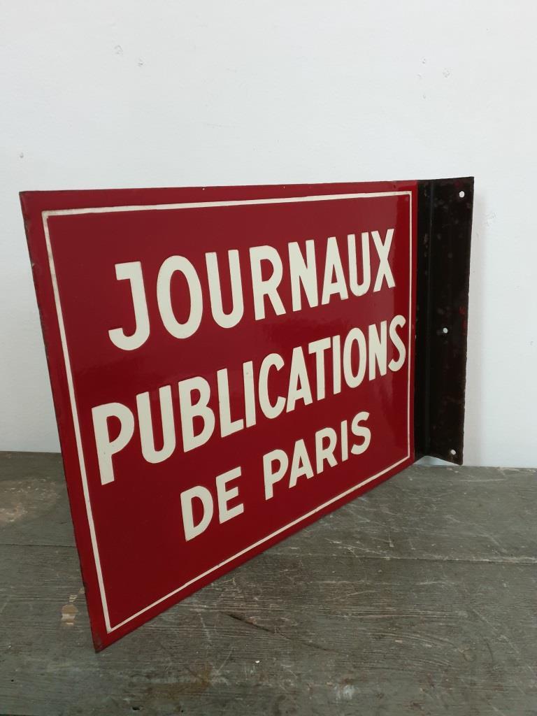 1 plaque emaillee journaux publications de paris