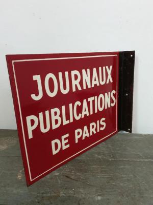 Plaque Journaux de PARIS