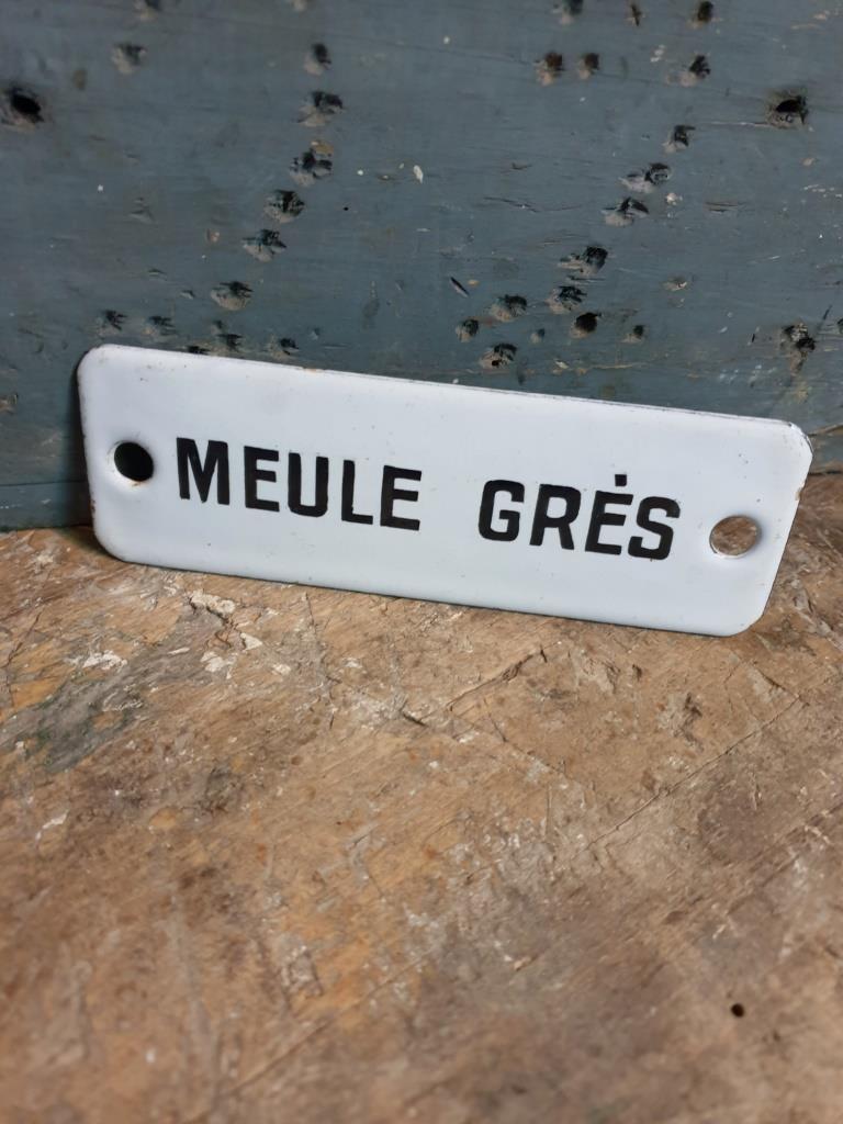 1 plaque emaillee meule gres