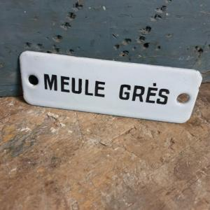 1 plaque emaillee meule gres