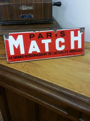 Plaque PARIS MATCH