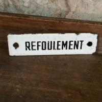 1 plaque emaillee refoulement
