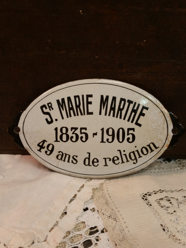 1 plaque emaillee ste marie