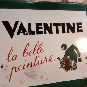 1 plaque emaillee valentine