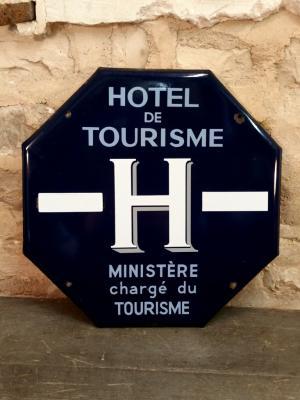 Plaque émaillée HOTEL