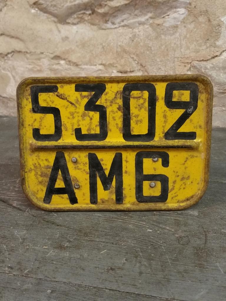 1 plaque immatriculation moto