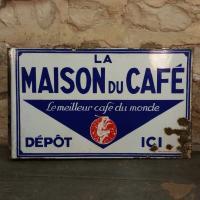1 plaque maison du cafe