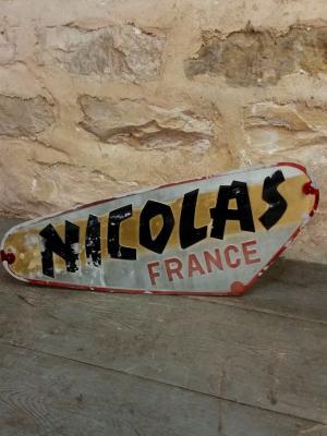 Plaque vins NICOLAS