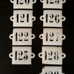 Plaques émaillées numéros