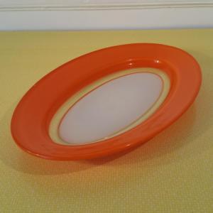 1 plat oval orange