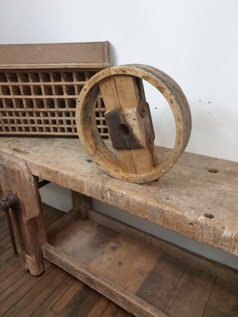 1 poulie bois largeur 10