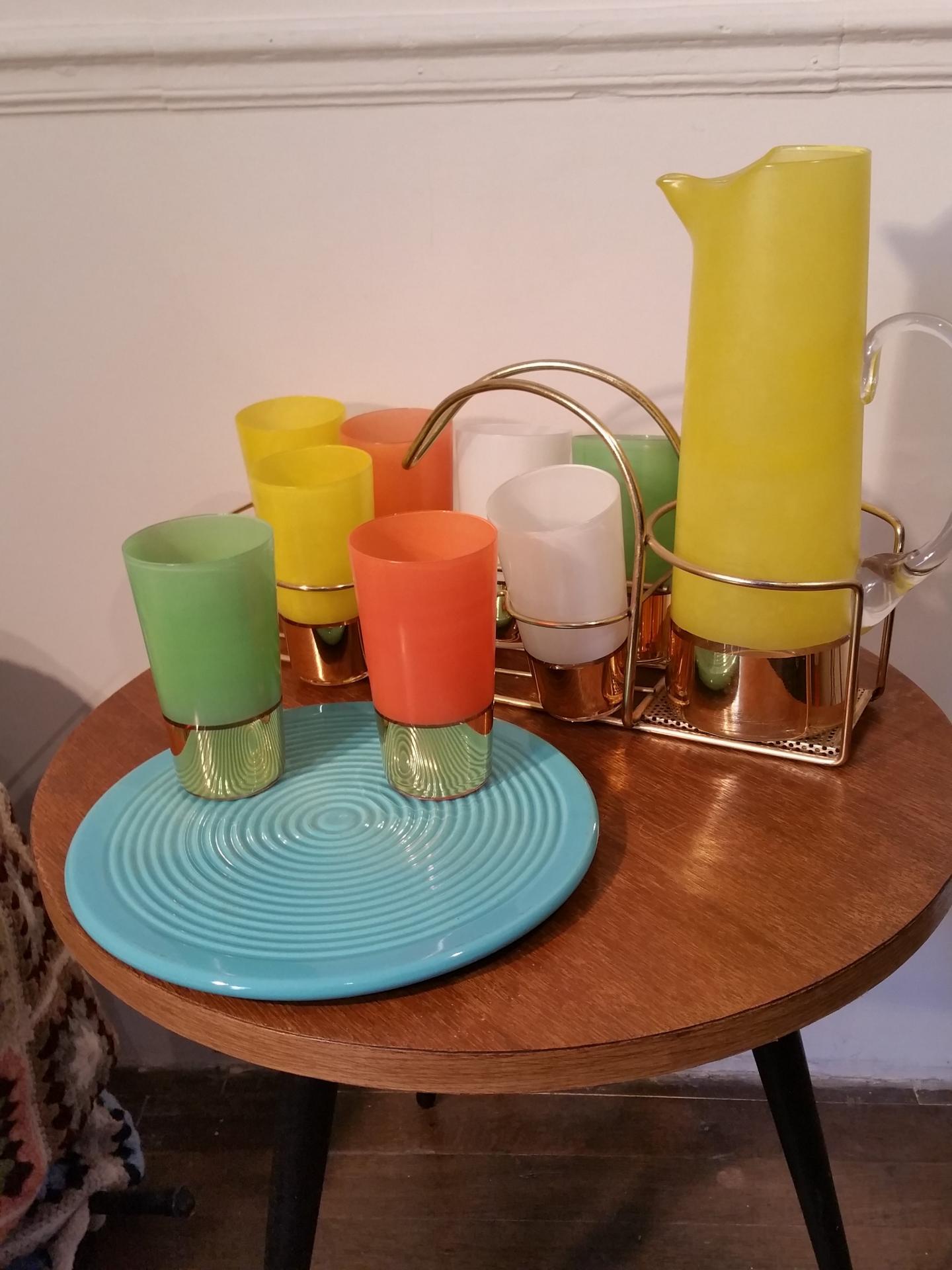 1 service a orangeade 8 verres