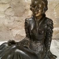 1 statue femme art deco