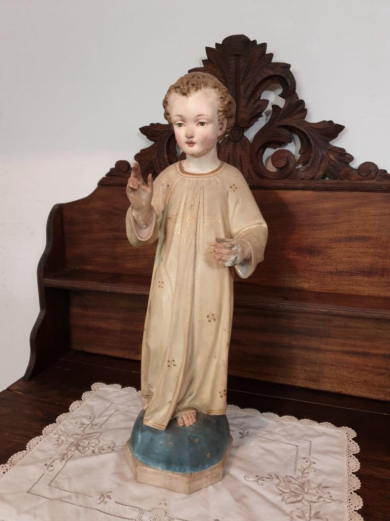 1 statue religieuse enfant