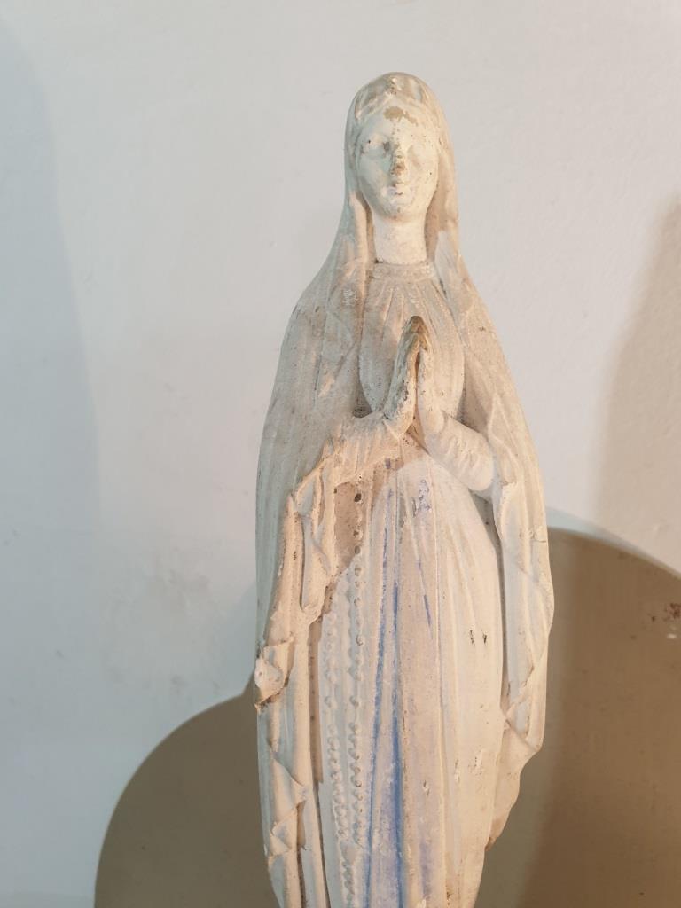 1 statue vierge marie blanche