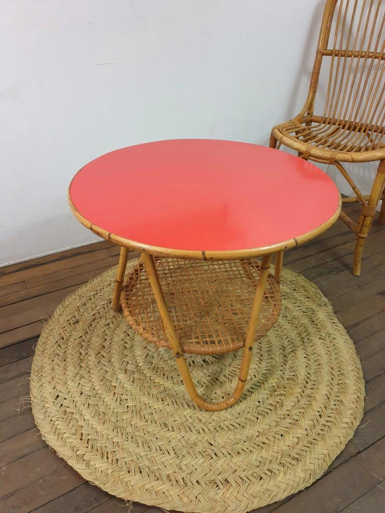 1 table basse formica rouge 1