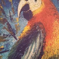 1 tableau perroquet