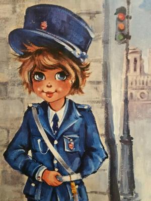 1 tableau poulbot gendarme 1
