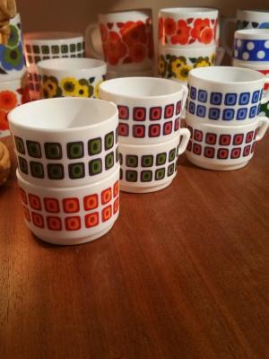 Tasses à café 70's