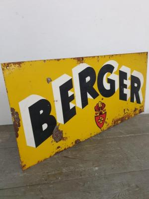 Plaque BERGER