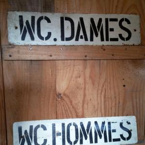 1 toles wc dames hommes