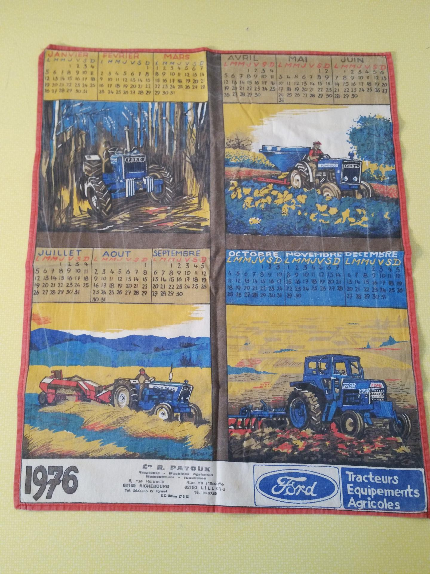 1 torchon calendrier ford